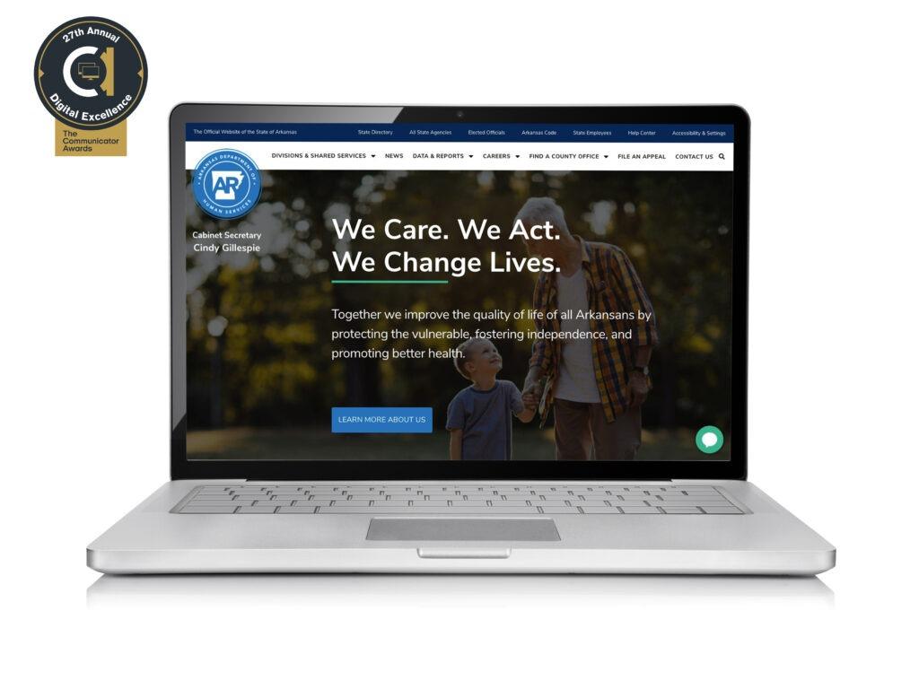 DHS Website Wins Communicator Award